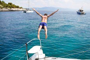 Luxury catamaran charter yacht in the BVI