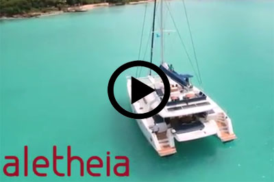 Catamaran aletheia video
